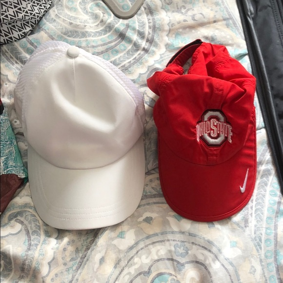 Nike Dri-Fit Ohio State Hat and White Hat